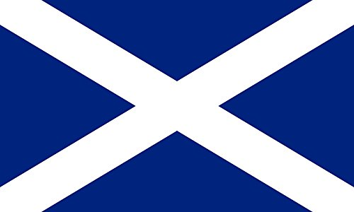 SoCal Flags Brand Scotland Flag 3x5 Foot Polyester Saint Andrews Cross Weather Resistant Durable Indoor Outdoor Banner - 100d Material Not See Thru Like Other Brands
