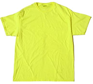 Amazon.com: Neon YELLOW Bright Colorful Youth Kids Tee Shirt T ...