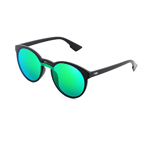 de TWIG redondo mujer Verde Gafas espejo GOYA Negro sol hombre qExndB