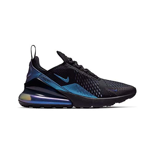 Nike Men's Air Max 270 Black/Laser Fuchsia/Regency Purple Mesh Running Shoes 10 M - Nike Overlay