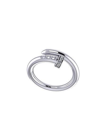 Anello chiodo in argento 925 con zirconi New Glamour Jewelry