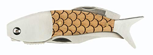 - Pocket knife - Men's gift - Sterling Brooke Folding Knife for the fishing boat, hunting camp, or knife collection (Scales)