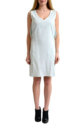 Martin Margiela MM6 Blue Sleeveless Women's Sheath Dress US M IT 42 (Martin Women Margiela Dresses)