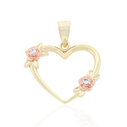 Charm Gold Simple Heart...