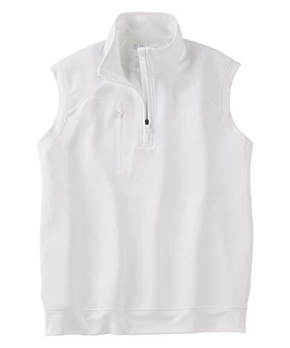 Bobby Jones XH2O Crawford Performance Golf Vest – Men's 1/4 Zip Vest Golf Apparel White ()
