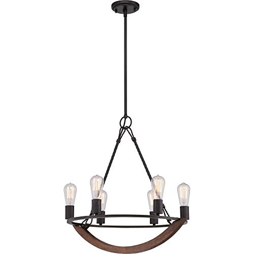 Quoizel ANR5006IB  Anchor 6-Light Chandelier, Imperial Bronze