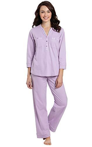 Addison Meadow Cotton Pajamas Women - Womans Pajamas Sets, Lavender, MD / 8-10 ()