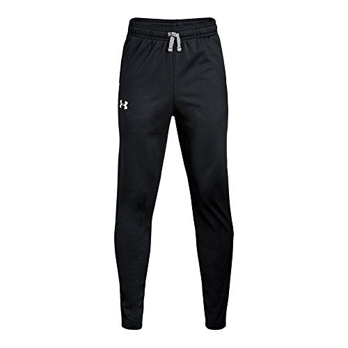 Under Armour Boys' Brawler Tapered Pants, Black /White, Youth Large -