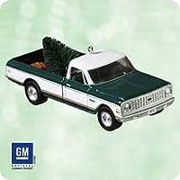 2003 Hallmark Ornament 1972 Chevrolet Cheyenne Super # 9 Series Die Metal Fundido