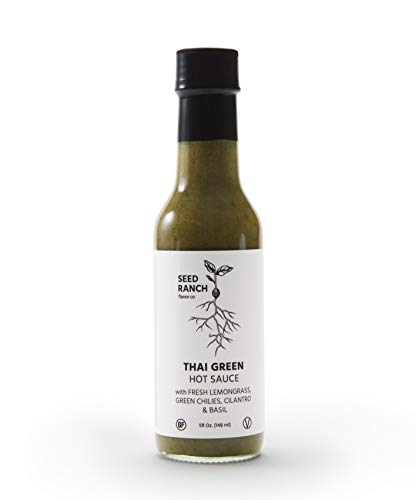 - Seed Ranch Flavor Co. Thai Green Hot Sauce with Fresh Lemongrass, Green Chilies, Cilantro & Basil