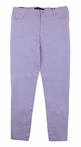 Gloria Vanderbilt Womens Amanda Slimming Stretch Classic Tapered Leg Denim Jeans (14 Average, Lilac Burst)