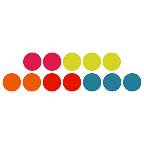 Three By Three Seattle Color Dot Magnets, Jumbo (Pack of ()