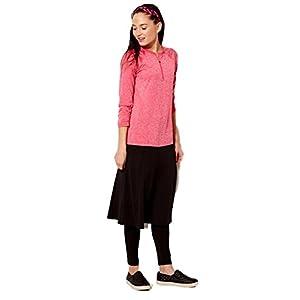 Modesty Athleisure Snoga Faux Wrap Skirt w/ Ankle Length Attached Leggings - Black, Medium
