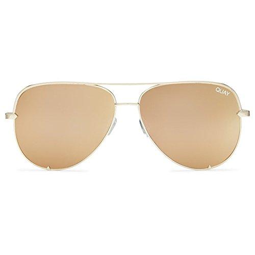 Quay High Key Sunglasses | Aviator Mirror Lens | UV - High Key Sunglasses