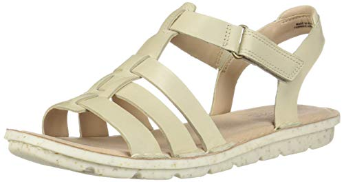CLARKS Women's Blake Jewel Sandal, Ivory Leather, 110 M US ()