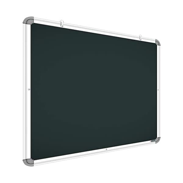 YAJNAS Non Magnetic 1.5x2 Feet Double Sided White Board and Chalk Board Both Side Writing Boards, one Side White Marker and Reverse Side Chalk Board Surface - Pack of 1 2