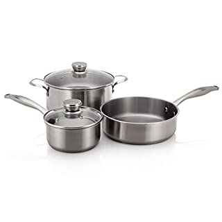 Frigidaire 5304513525 Induction Ready Stainless Steel Cookware Set w/Lids, 5 Piece