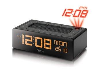 Oregon Scientific EC-101 - Radio reloj proyector con voz, función despertador, gran pantalla, color negro