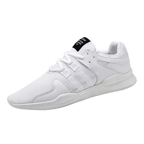 (JJHAEVDY Mens Stylish Sneakers Fashion Breathable Mesh Casual Athletic Sport Running Basketball Shoes White)