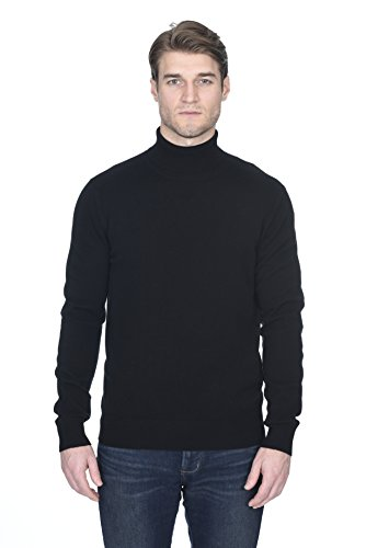 State Fusio Men's Cashmere Wool Turtleneck Long Sleeve Pullover Sweater Premium Quality by State Fusio