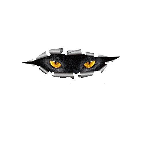 3D Personalized Car Stickers Decals Eyes Peeking Monster Decoration Sticker Window Decal (41x13cm, Cat Eye)