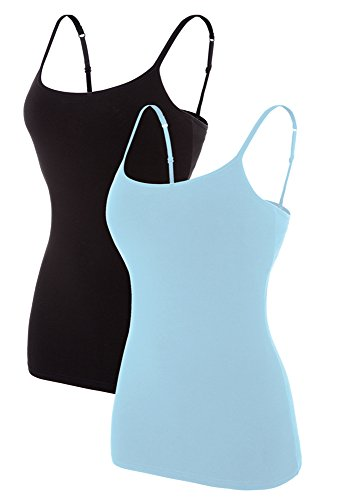 beautyin Women's Adjustable Spaghetti Strap Cami Tank Cotton Camisoles 2 ()