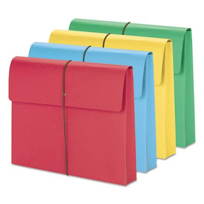 2'''' Accordion Expansion Wallet, Elastic Cord, Ltr, Blue/Green/Red/Yellow, 50/Box, Sold as 50 Each by Smead