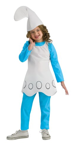 The Smurfs Movie Child's Costume, Smurfette Costume-Medium