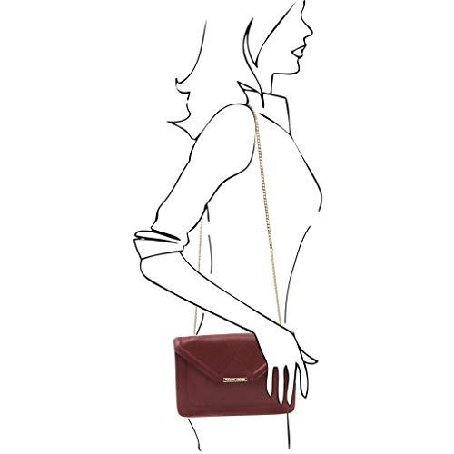 en Main Cuir Sac Bordeaux Tuscany Noir iRide chaîne à Leather à bandoulière et OqIZRxwXx