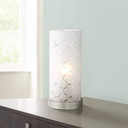 Babette 11 High White Glass Cylinder Accent Lamp – 360 Lighting