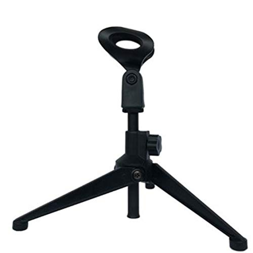 Chelsea Microphone Stand Desktop Tripod Stand Wired Wireless Microphone Stand E300 Black