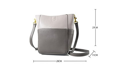 Packet Backpack Bag Bucket Oblique Blue Bag Summer Daughter Gray Color Simple Handbag Wild Shoulder qv8xw6Xpg