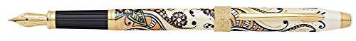 18k Nib Fountain (Cross Botanica Golden Magnolia Fountain Pen with Fine Solid 18K Gold/Rhodium Plated Nib (AT0646-1FF))