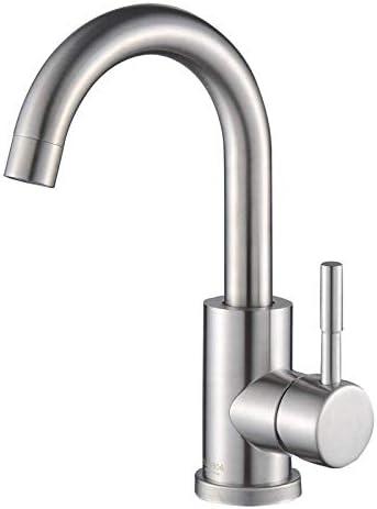 ZY-YY バスルームのシンクは、スロット付き浴室の洗面台のシンクホットコールドタップミキサー流域の真鍮シンクミキサータップ非震とう浴室蛇口ステンレス鋼の蛇口ブラシ温水と冷水の蛇口をタップ