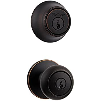 Kwikset 690 Cove Entry Knob and Single Cylinder Deadbolt Combo Pack in Venetian Bronze