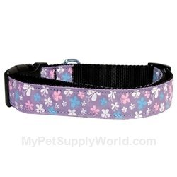 Mirage Pet Products Butterfly Nylon Ribbon Collar, Small, Lavender