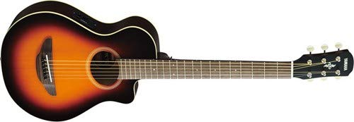 (Yamaha APXT2 3/4 Thinline Acoustic-Electric Cutaway Guitar Old Violin Sunburst)