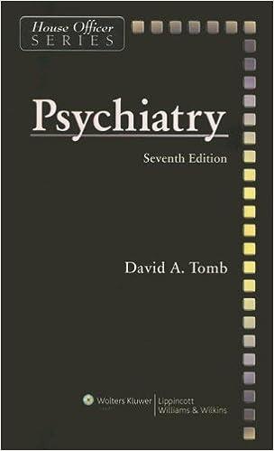 Psychiatry house officer series 9780781774529 medicine psychiatry house officer series seventh edition fandeluxe Gallery