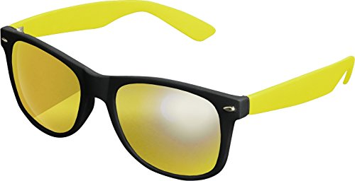 MSTRDS Likoma Mirror, Lunettes de Soleil Mixte, Multicolore-Mehrfarbig (Black/Yellow/Yellow 4691), Taille Unique