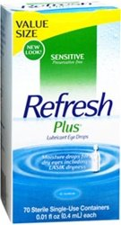 Refresh Plus Lubricant Eye Drops, Single-Use Containers, 70