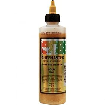 Amazon.com : Chefmaster Airbrush Food Color, 9-Ounces, Metallic Gold ...