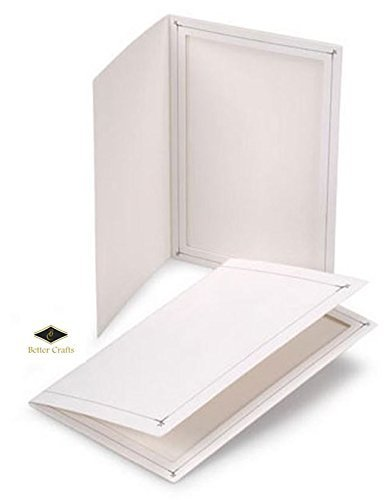 BETTER CRAFTS Cardboard Photo Folder for a 5x7 Photo - White Stock - Pack of 10