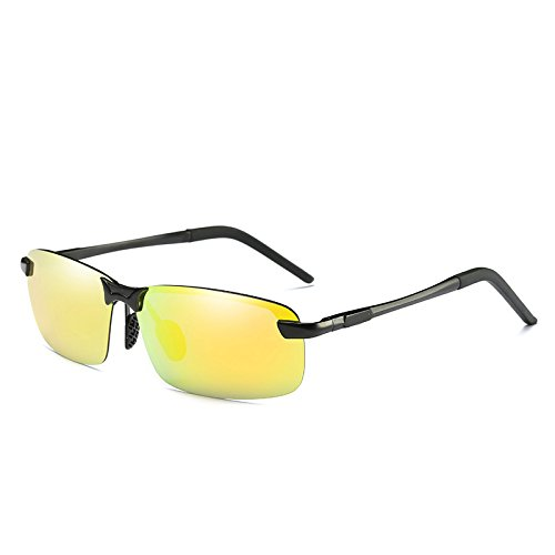 polarizadas clásicas Gold guiar polarizadas de reborde UV400 sin para aluminio oro gafas gafas TIANLIANG04 Mens gafas Uwqv8xZEnf
