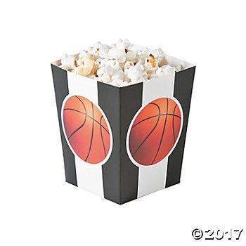 Small Basketball Popcorn Boxes - 24 ct