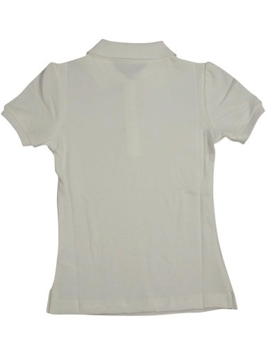 French Toast Short Sleeve Stretch Pique Polo Girls White 7