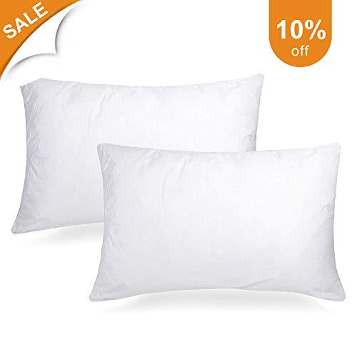 - Adoric Pillows for Sleeping, Bed Pillows 2 Pack Standard Down Alternative Bed Pillows 100% Cotton