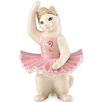 (Lenox Kitty's First Ballet Recital Fine Porcelain Collectible Figurine - 6.6