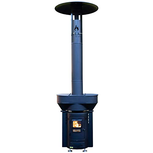 QSTOVES Outdoor Wood Pellet Patio Heater, Q-Flame Portable Heater, Portable Stove, for Camping, RVing, Hunting – Q05/Q05C