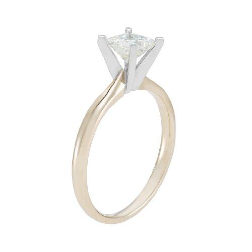 H shape Amazon Collection i Diamant Or Princess Femme Et 18 Carats Jaune Blanc qvzgqp