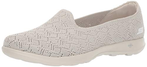 Skechers Women's GO Walk LITE-16396 Loafer Flat, Natural, 8 M US